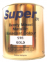 SUPER 2K 916 GOLD Ready Mixed Metalic Basecoat Colour paint 1L