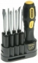 STANLEY 62-511 9 WAY SOFT GRIP SCREWDRIVER SET